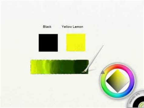 what color does black and yellow make how to get olive green shades in artrage