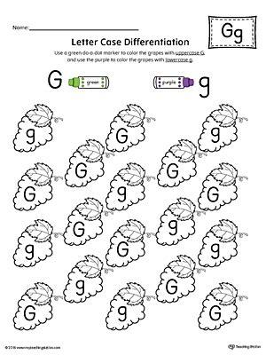 letter recognition worksheet letter g 679 | Letter Case Recognition Worksheet Letter G