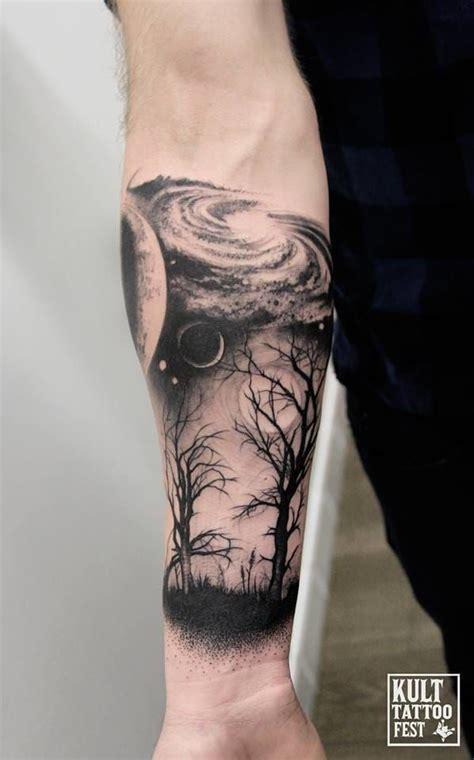 Cosmic Scene Abstract Tattoostatt Tattoos Forearm