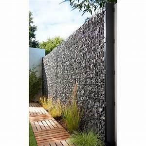 Cloture Aluminium Castorama : good panneau gabion gris x h m castorama with cloture ~ Melissatoandfro.com Idées de Décoration