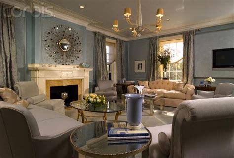 Blue And Silver Living Room by Decorating A Mantle Stacy Nance Interiors