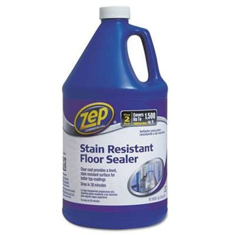 Zep Floor Wax On Cer by Zep Commercial Stain Resistant Floor Sealer 1 Gallon Bottle