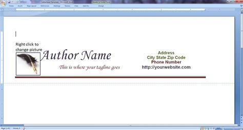 creating letterhead  word  printable letterhead
