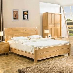 Lit Double Bois : lit double moderne en bois solides lits m x2226 photo ~ Premium-room.com Idées de Décoration