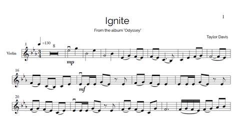 ignite violin sheet   play  piano