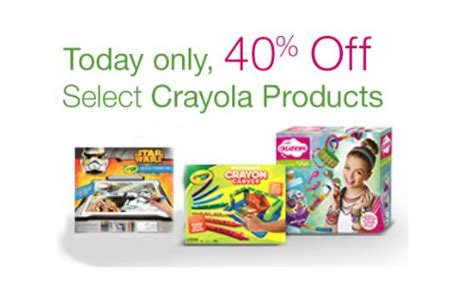 40% Off Select Crayola Products