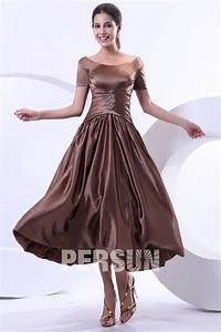 robe marron mere de la mariee encolure bateau ornee de With robe de la mère de la mariée