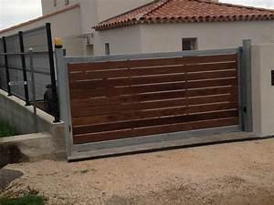 Portail Bois 4m : portail coulissant bois portail prix sfrcegetel ~ Premium-room.com Idées de Décoration