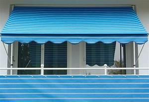 angerer freizeitmobel klemmmarkise blau weiss gestreift With markise balkon mit tapete gestreift blau