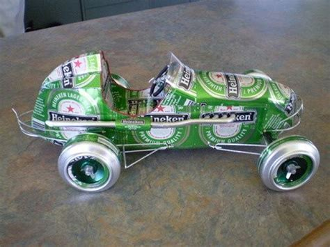 repurposed vehicles  tin cans upcycle art