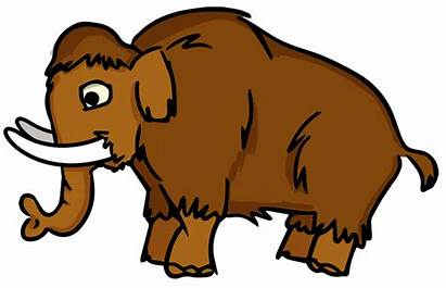 Mammoth Clipart Extinct Animals Cartoon Clip Animal