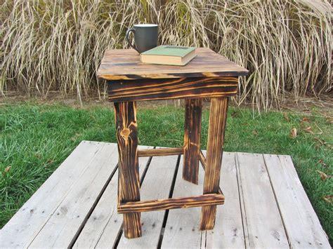 handmade nightstand side table   reclaimed pallet wood  reclaimed interior