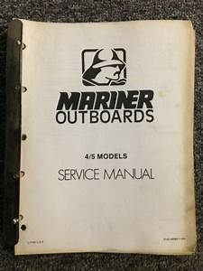 Mariner Outboards 4  5 Models Service Manual