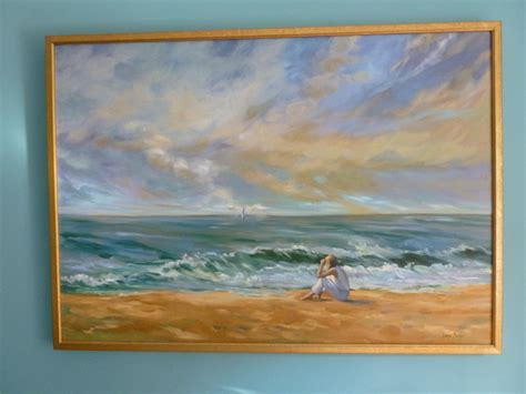oil painting beach style living room richmond