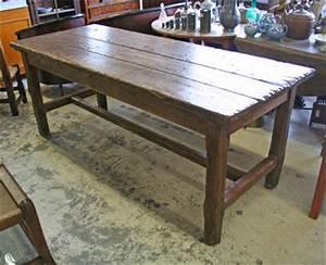 Table Ancienne De Ferme : table de ferme ancienne bois massif table de lit ~ Teatrodelosmanantiales.com Idées de Décoration