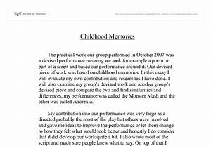 memories essay paper