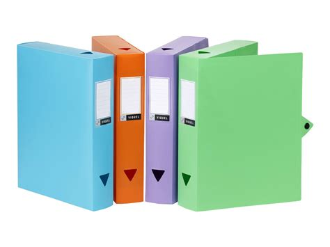 bureau en plastique viquel class doc boîte de classement dos 80 mm 245 x