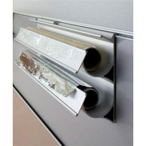 derouleur papier cuisine dérouleur à papier aluminium sur crédence accessoires de