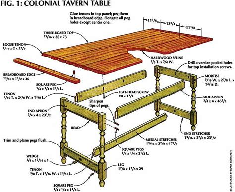 colonial tavern table  century table american