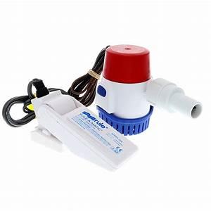 Rule 500 Gph Standard Bilge Pump Kit W  Float Switch