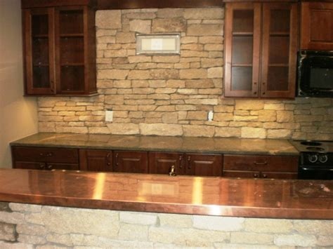 rock backsplash for kitchen can granite countertops help sell my house masters 4853