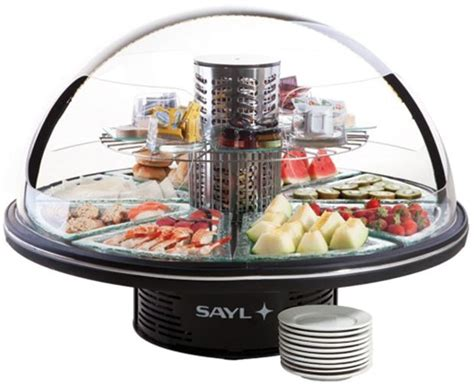 xxlselect refrigerated display black presentation buffet 95 216 x h 75cm