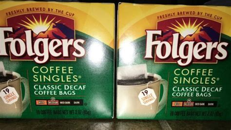 Folgers coffee on alibaba.com are from the most reliable brands that use fine cocoa beans sourced from the best regions to make their products. Folgers Coffee Singles Classic Decaf Coffee Bags 19 Single Serve Lot of 2 Boxes for sale online