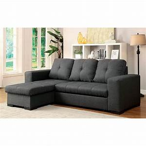 Brand new sectional w storage chaise and sofa bed cm6149gy for Duke sectional sofa bed w storage
