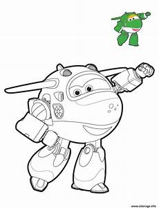 Coloriage Super Wings Mira Mode Robot