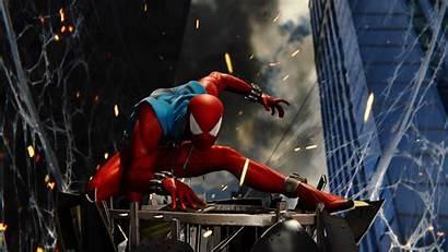 Spider Ps4 Spiderman 4k Scarlet Wallpapers Marvel