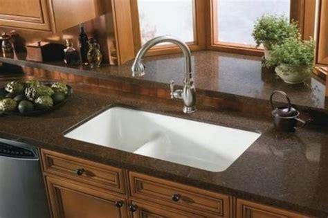 quartz undermount kitchen sinks brown quartz countertop undermount cast iron kitchen 4476
