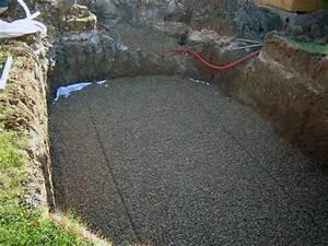Bache Anti Herbe Sous Gravier : radier piscine comment faire des fondations stables et ~ Edinachiropracticcenter.com Idées de Décoration