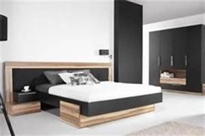 Lit adulte design black avec matelas latex en promotion for Chambre à coucher adulte avec fabricant de matelas sur mesure