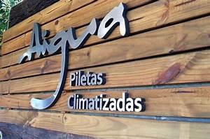 Letras Corporeas Polyfan con frente de acero, Aigua letterSystems