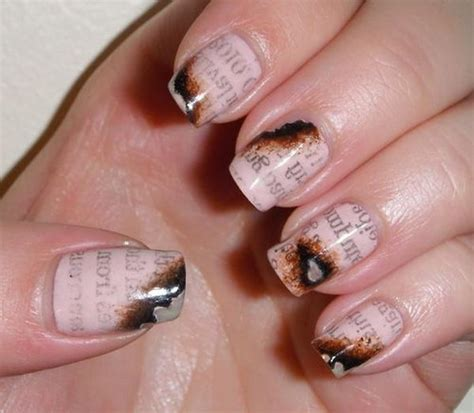 cool newspaper nail art ideas hative
