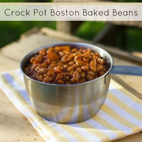 crock pot cooker boston baked beans crockpot cooking