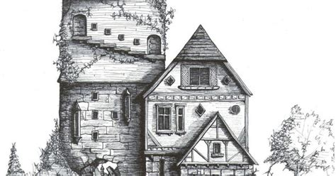 whimsical house drawing houses illustrations exteriors