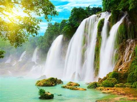 Waterfall Background by Wallpapers Waterfalls Scenery Wallpapers