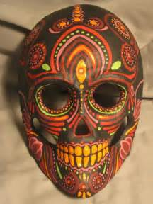 Hand Painted Mexican Masks Day of the Dead