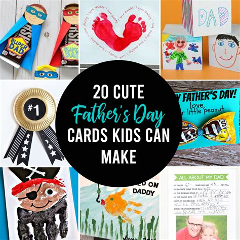 Father's day is a holiday honoring fathers, celebrated in the united states on the third sunday in june. 20 adorable Father's day card ideas for kids to make! - It ...