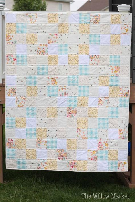 sweet  simple squares quilt pattern favequiltscom