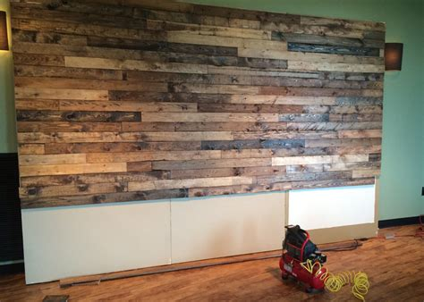 pallet wall pics how to distress wood create a faux pallet wall time for a project