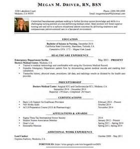 rn bsn nursing resume resume megan driver rn bsn
