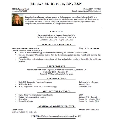 rn bsn resume objective 28 images unforgettable