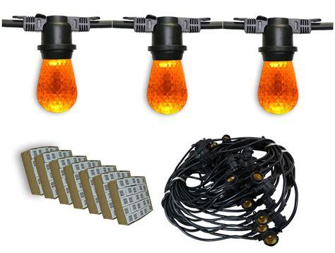 heavy duty outdoor led lights heavy duty amber led outdoor string lights 330 39 black