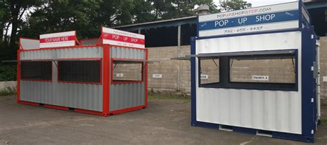 container pop  shop portable concession stands