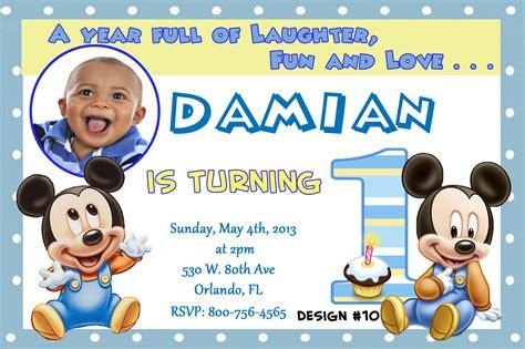 baby mickey mouse st birthday invitations dolanpedia