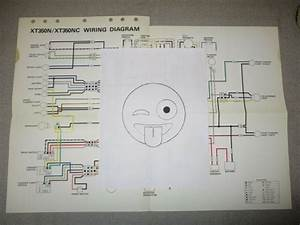 Yamaha Xt 350 N  Nc 1985 Genuine Colored Wiring Diagram