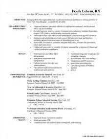 Resume Format For Nurses Abroad by Sle Resume For Nurses Pdf Resume Resume Exles Pvyevvbame