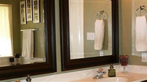 upgrading builder grade bathroom mirrors youtube